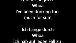 Taio Cruz - Hangover Lyrics + Deutsche Übersetzung