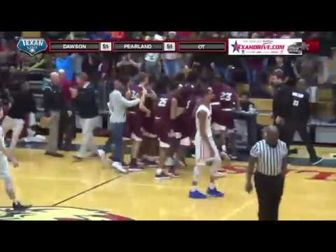 Pearland High School: Javarious Washington buzzer beater in OT vs Dawson