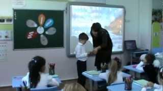 Занятие по казахскому языку   1 класс