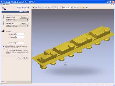 Importing and machining a 3D model