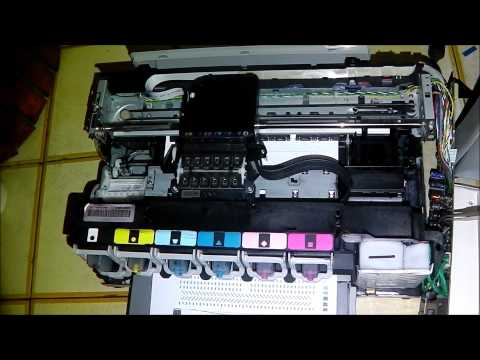 how to manual clean hp photoshmart 6520 printhead