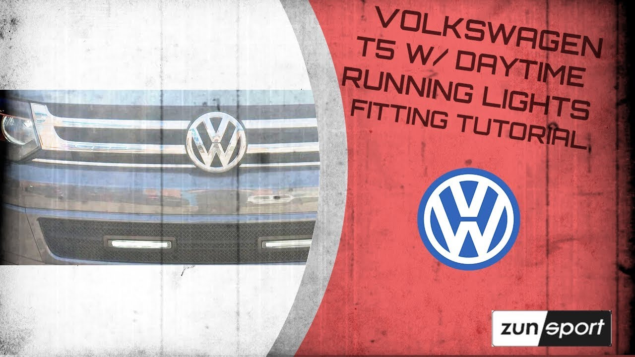 Volkswagen T5 W Daytime Running Lights Fitting Tutorial Youtube Light Wiring Diagram Get Free Image About