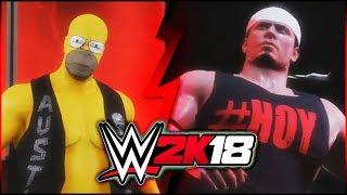 WWE 2K18: Extreme Sumo vs Homer Simpson