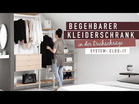Begehbarer Kleiderschrank CLOS IT - unter der Dachschräge from YouTube · Duration:  38 seconds