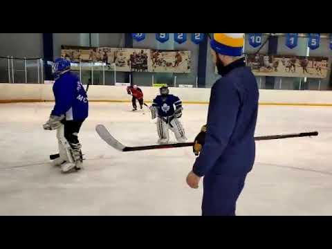 Упражнения для вратарей ХК Гольяново