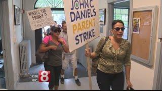 New Haven parents protest school budget cuts