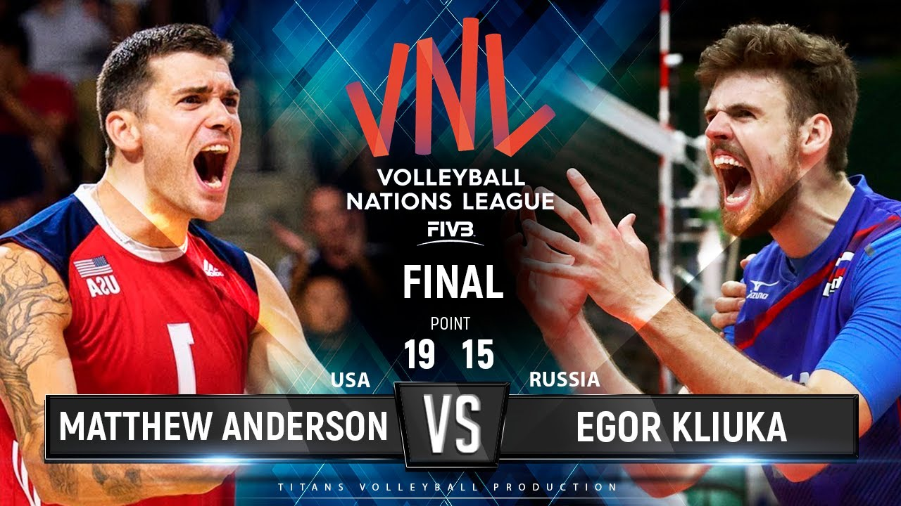 Matthew Anderson vs Egor Kliuka | USA vs Russia | FINAL VNL 2019