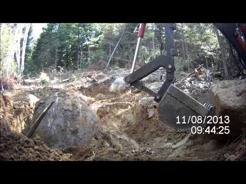 Moving Large Rocks, Winching and Digging with Homemade equipment