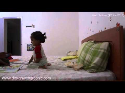 Kavil Studying in Funny Way Doing Grand Masti while Learning Nursery Alphabets and Numbers Travel Video