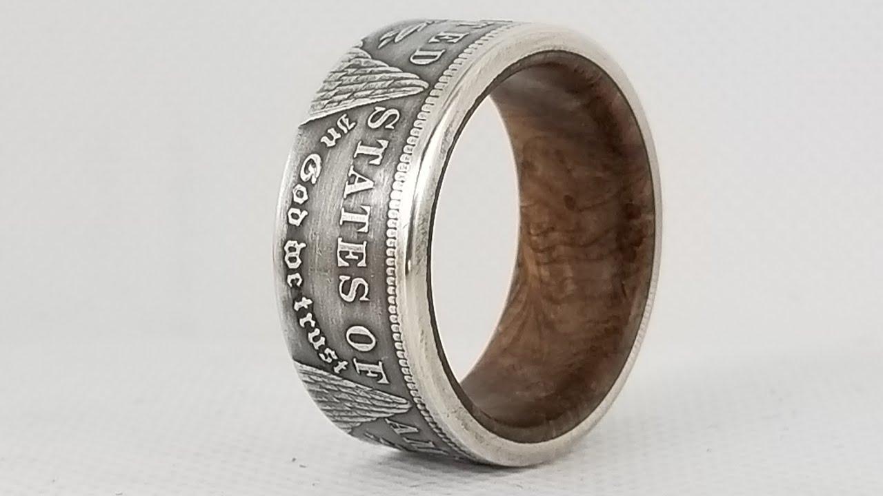 Making a Morgan Dollar and burl wood coin ring (Giveway!)