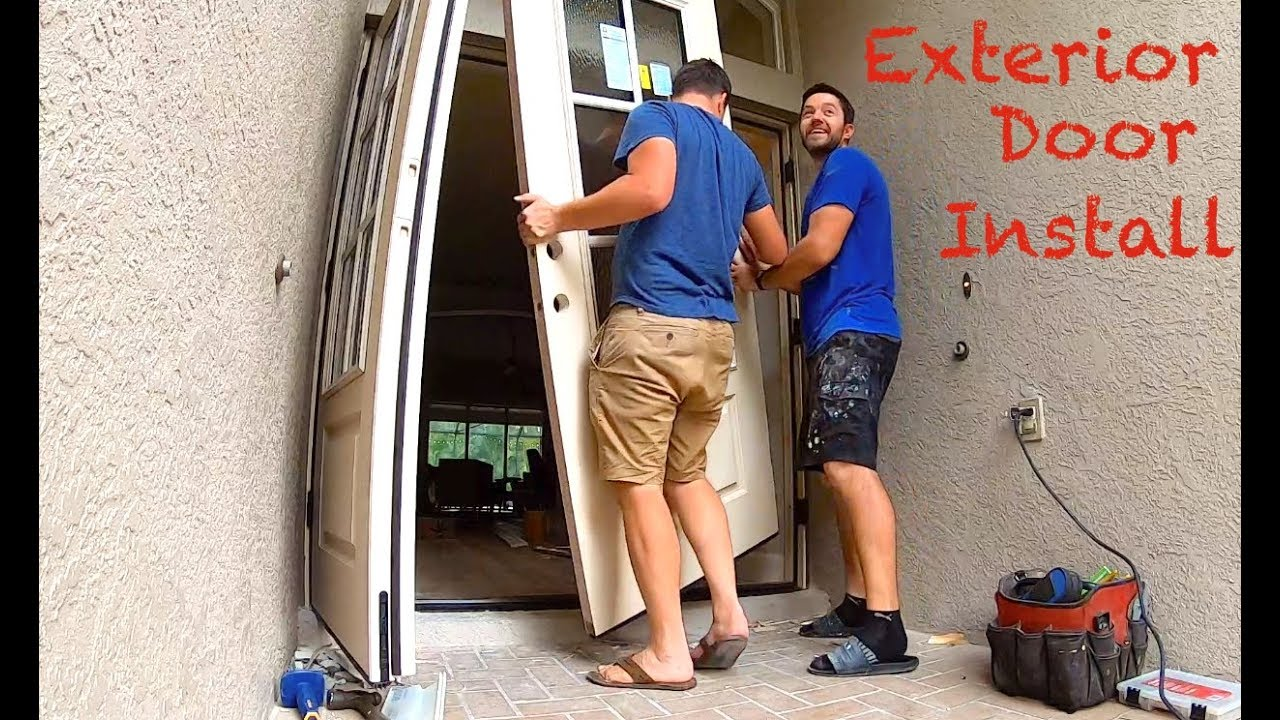 Exterior Door Installation On Concrete Slab You