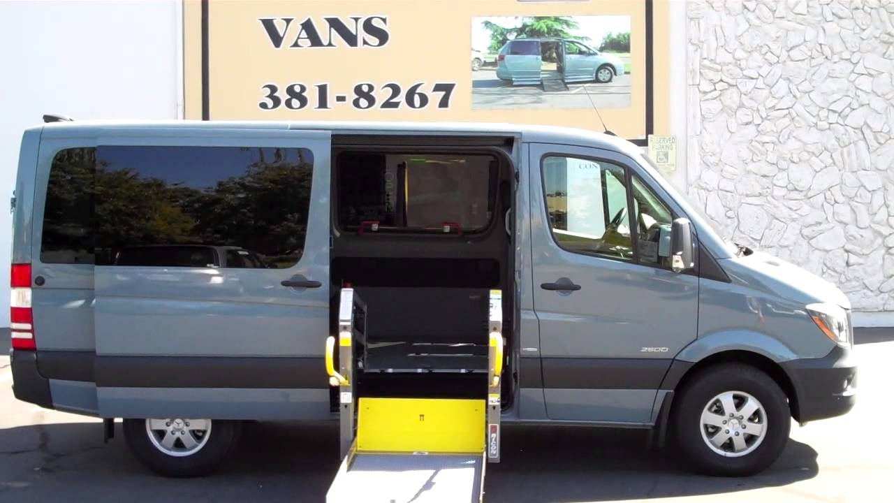 wheel chair lift for van. 2014 Mercedes-Benz Wheelchair Accessible Ricon Lift With Power Sliding Door - YouTube Wheel Chair For Van