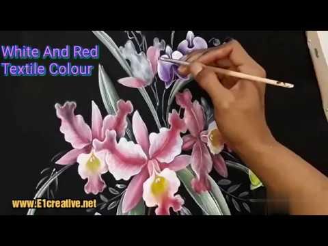 Panduan Cara Melukis Bunga Anggrek Di Kain Anggrek Bulan Dan