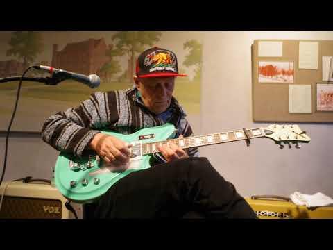 03.11.18. Joe Price, sound check # 1 at the Carl Sandburg S.H.S 2632