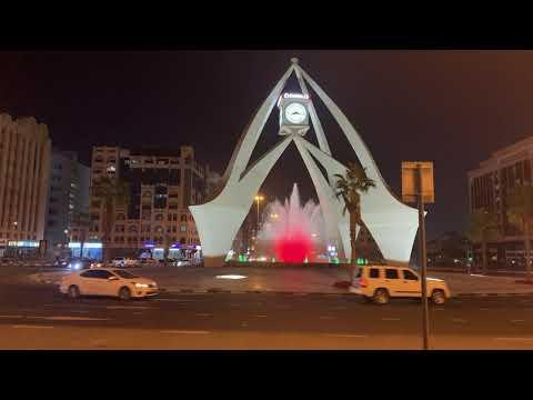 CLOCK TOWER DUBAI AT NIGHT