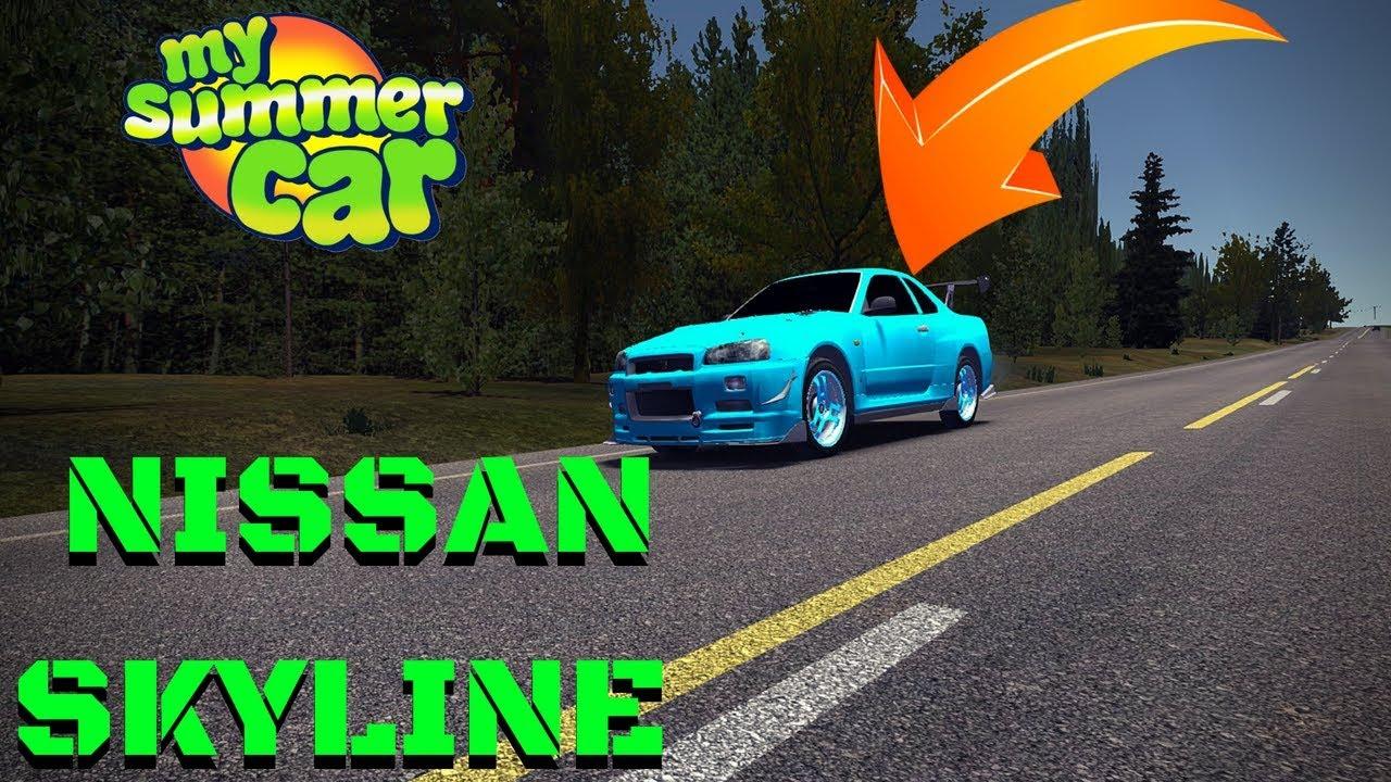 NISSAN SKYLINE R-34 GT-R + HOW to INSTALL - My Summer Car #89 (Mod)