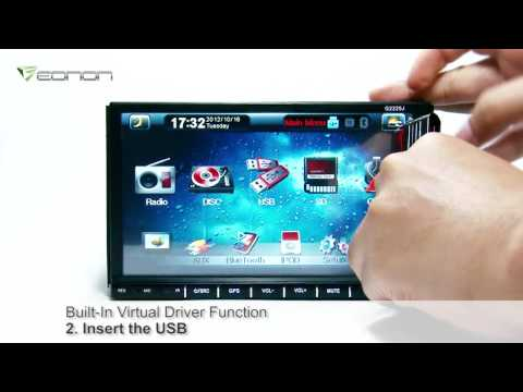 Eonon G2225 7 Inch Detachable Digital Touch Screen 2 Din Car DVD GPS with Latest 2012 Map