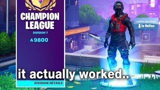 So I Tried a UNLIMITED ARENA POINTS Glitch in Fortnite and it actually WORKED...