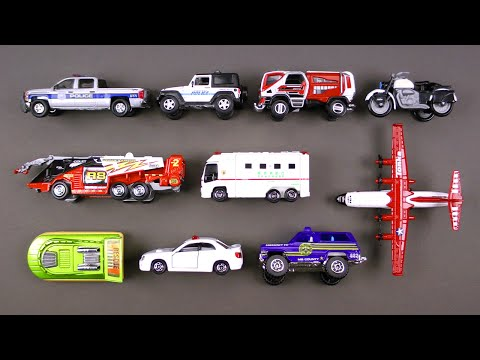 Learning Emergency Vehicles for Kids #3 - Rescue Trucks Cars by Hot Wheels, Matchbox, Tonka, Tomica