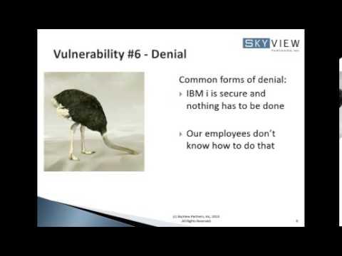 Top Ten Security Vulnerabilities of IBM i Security Configuration