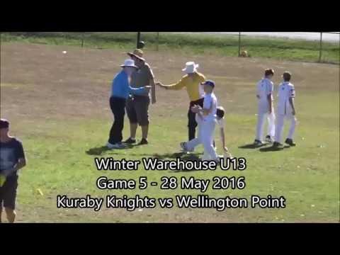 Winter Warehouse U13 - Kuraby Knights vs Wellington Point 28 May 2016