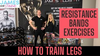 How To Train Legs || Resistance Bands Exercises || Exercise Demonstrations || Glutes || Hamstrings