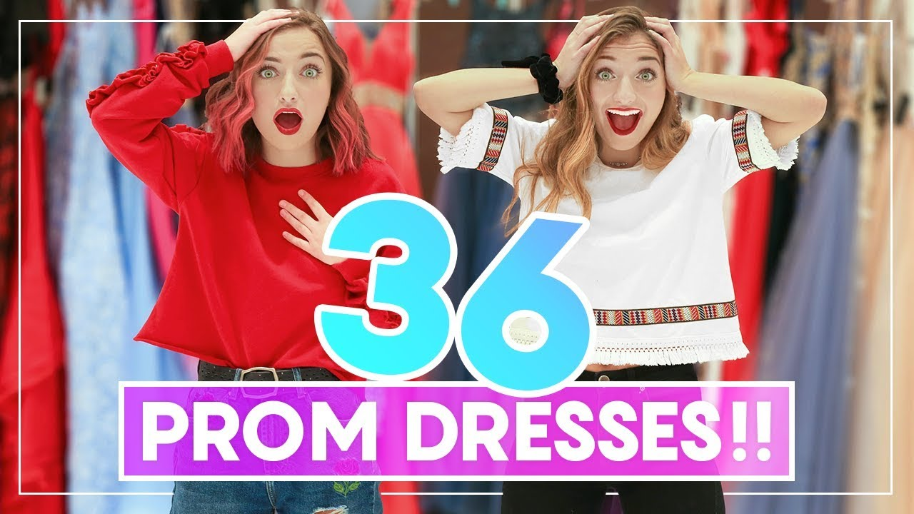 d378dfa5949 WE TRiED ON 36 PROM DRESSES! Can You Guess Our Favorites   Prom · Brooklyn  and Bailey