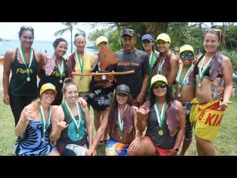 """Puna Canoe Club - Wahine - """"Ala Kahakai"""" 32 Mile Canoe Race - 2017"""