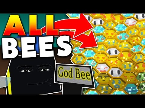 UNLOCKING EVERY POSSIBLE BEE IN THE GAME!! - Roblox Bee Swarm Simulator