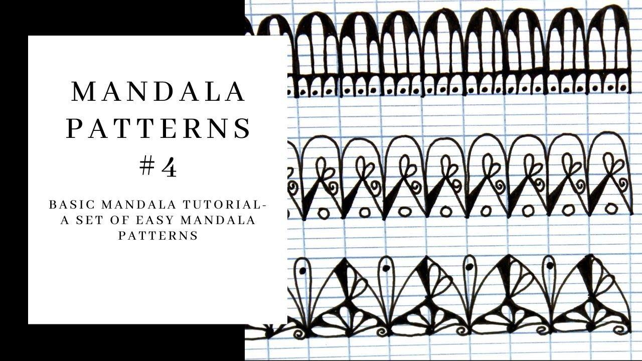 Mandala Patterns- Easy step by step drawings- Patterns set #4