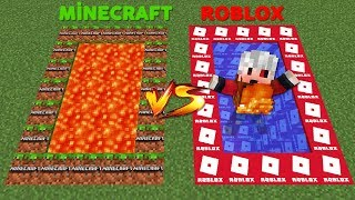 MINECRAFT VS ROBLOX POOL CHANCE BLOCKS - Minecraft