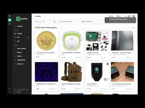 How to Buy an Item on Particl's Open Marketplace