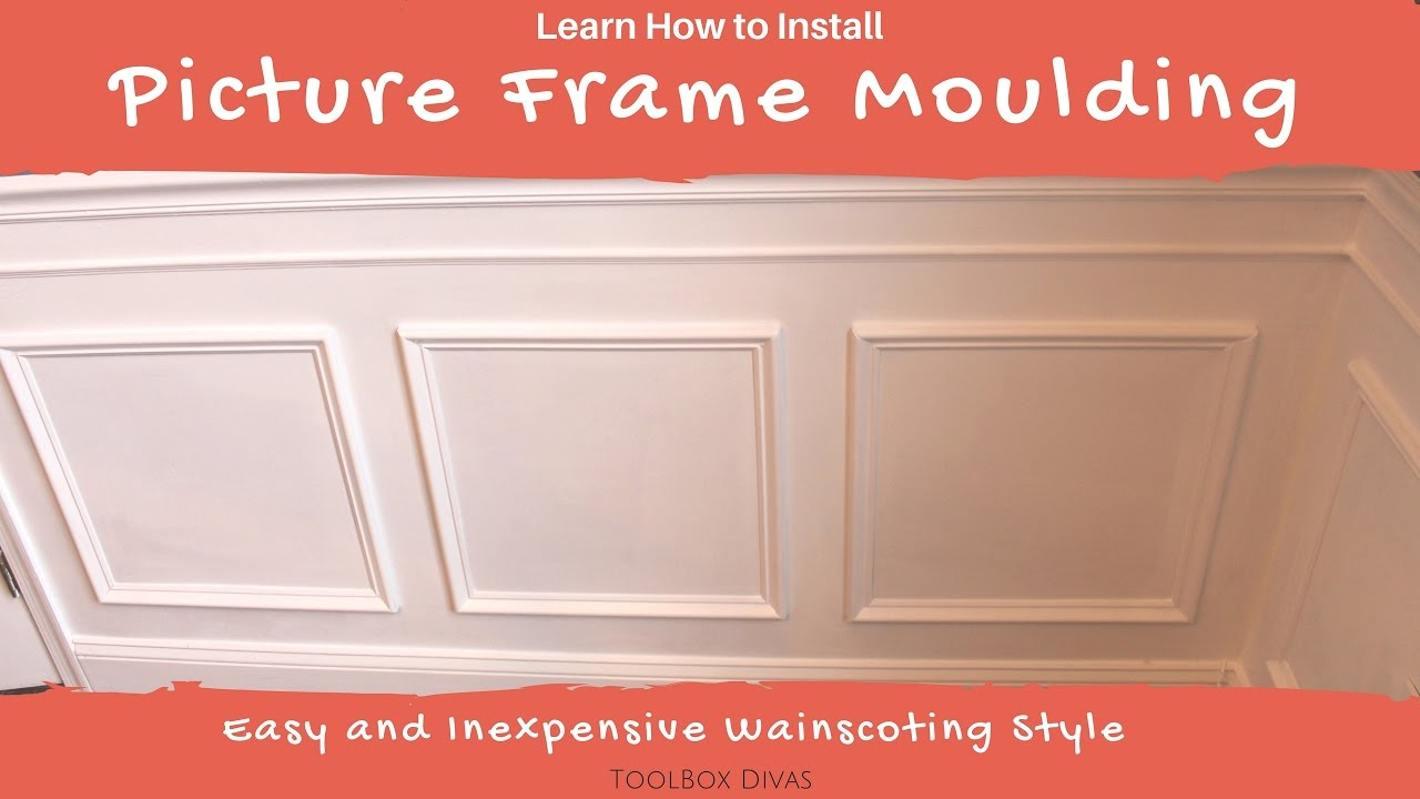 How to Install Picture Frame / Wainscoting Moulding - YouTube