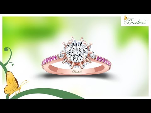 PINK SAPPHIRE ROSE GOLD ENGAGEMENT RING