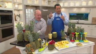 Stainless Steel Pineapple Slicer with Silicone Cover & Guide Ring on QVC