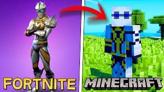 PLAYING MINECRAFT with my FORTNITE FAVOURITE SKIN! 😍 DO YOU GIVE ME LUCK?