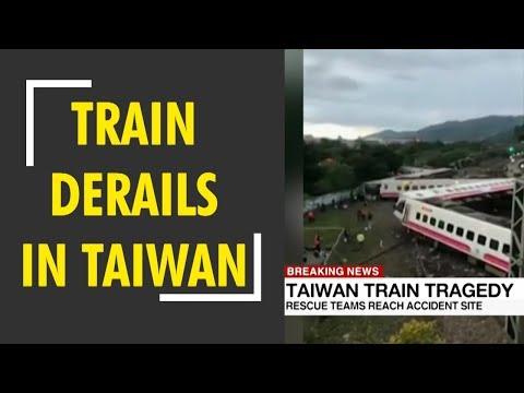 Breaking news : Train derails in Taiwan kills 17