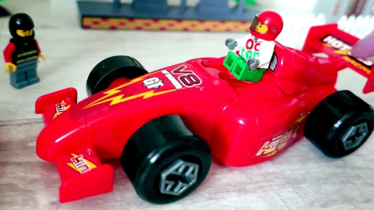 Гоночная машина. Сборка. Машина для гонок. Видео для детей ...