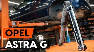 How to replace rear shock absorber on OPEL ASTRA G CC (F48, F08)  [TUTORIAL AUTODOC]