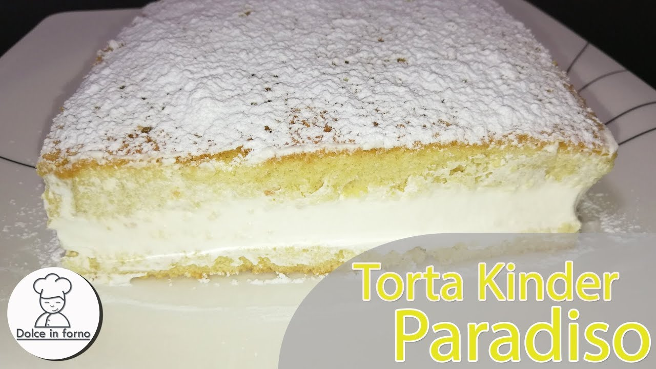 Ricetta Torta Kinder Paradiso Senza Fecola Di Patate.Torta Kinder Paradiso La Ricetta Piu Soffice Youtube