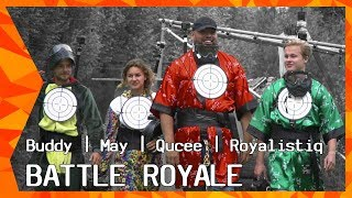ZAPPSPORT BATTLE ROYALE: PART 1 | ROYALISTIQ, QUCEE, BUDDY & MAY VS 100 KIDS | FORTNITE IN REAL LIFE