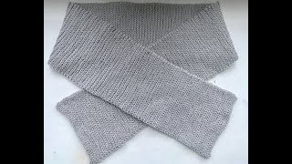 Простой легкий шарф крючком для начинающих имитация вязки спицами crochet scarf
