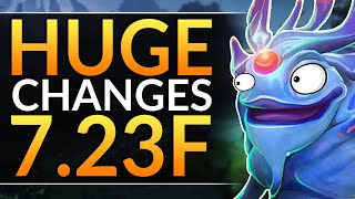 What You MUST KNOW in Patch 7.23F - HUGE CHANGES, BUFFS and NERFS - Dota 2 Meta Guide