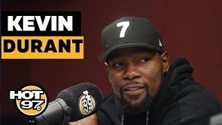 Kevin Durant On Signing W/ Nets, Considering Knicks & Wizards, Time In Gs   Names Top 5 Rappers