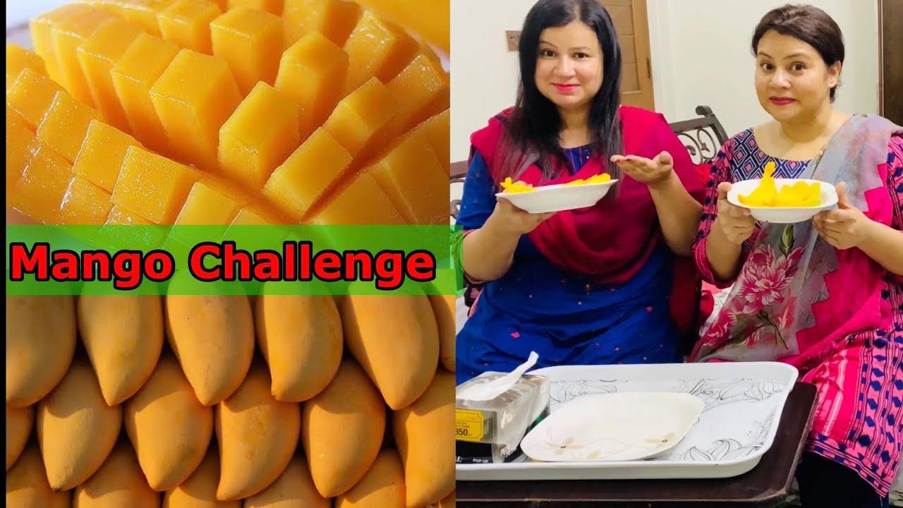 Mango Challenge | Mango Party | Pakistani Mangoes | Multani Mango | UAE Vlogger Gulnaz Bano