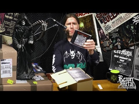 Unboxing HELLRIPPER CDs the latest Reaper Metal release!