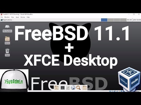 FreeBSD 11.1 Installation + XFCE Desktop + Apps + Guest Additions on Oracle VirtualBox [2017]
