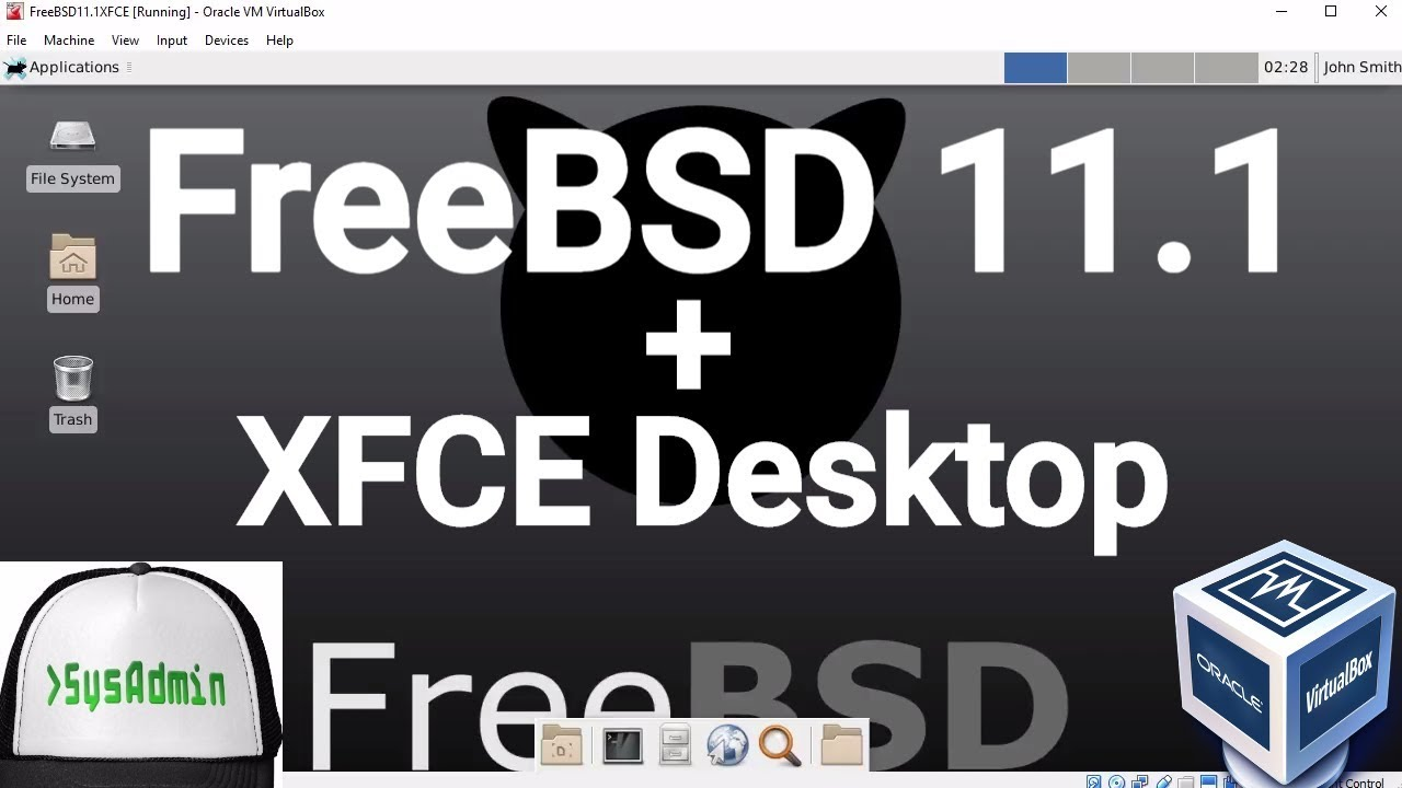 FreeBSD 11 1 Installation + XFCE Desktop + Apps + Guest Additions on Oracle  VirtualBox [2017]