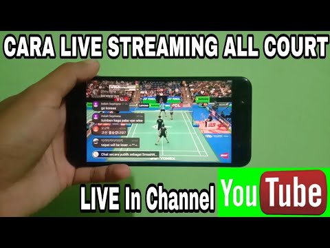 Live Streaming All Court Indonesia Open Di Youtube