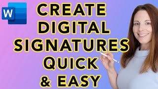 How to Create Digital Signatures in Word – Quick and Easy Tutorial – Transparent Background